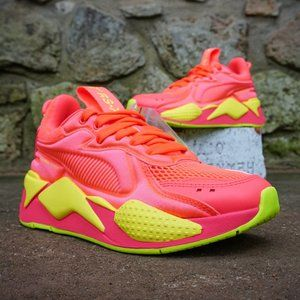 PUMA RS-X SOFT CASE PINK/YELLOW WOMEN'S SNEAKERS